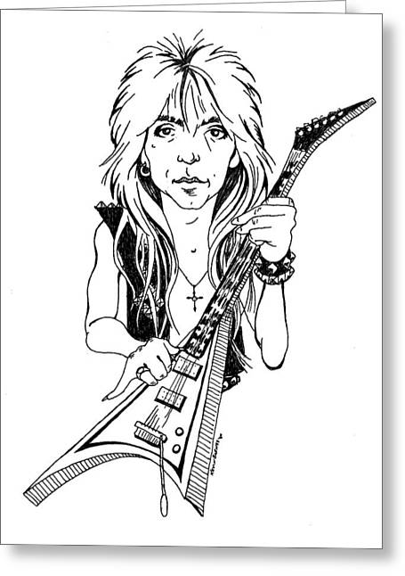 Randy Rhoads Caricature Greeting Card