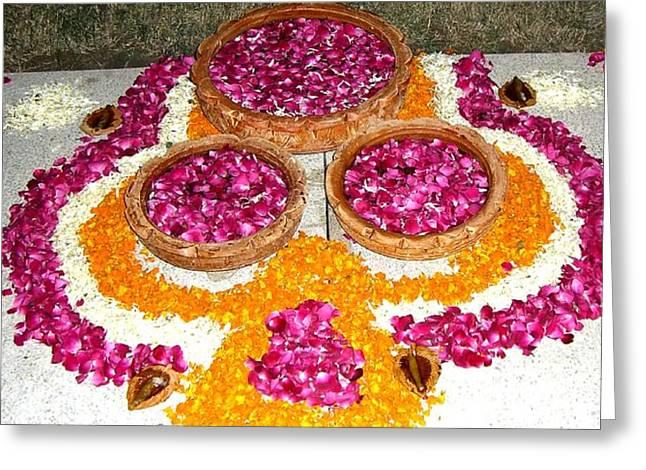 Rangoli- Festive Colours Greeting Card by Sunaina Serna Ahluwalia