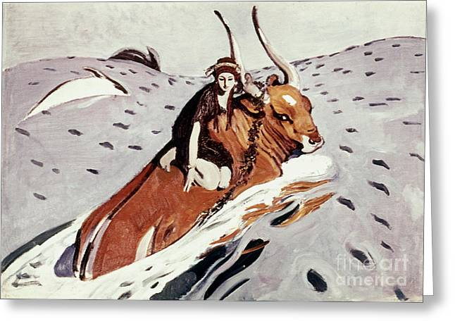 Rape Of Europa Greeting Card by Granger
