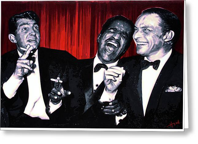 Rat Pack Greeting Card