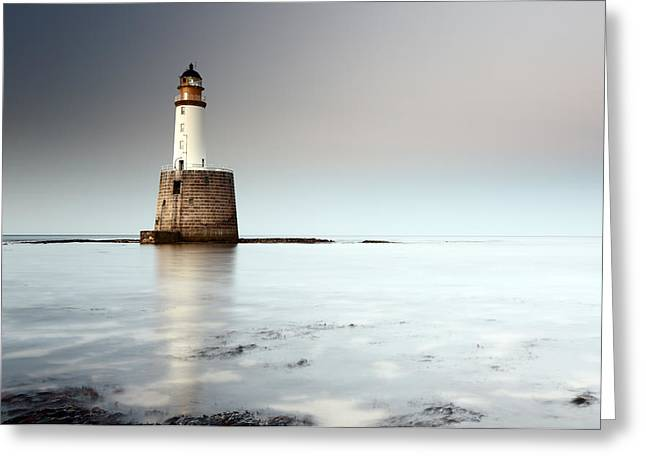 Rattray Head Lighthouse  Greeting Card by Grant Glendinning