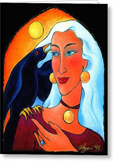 Raven Speaks Greeting Card