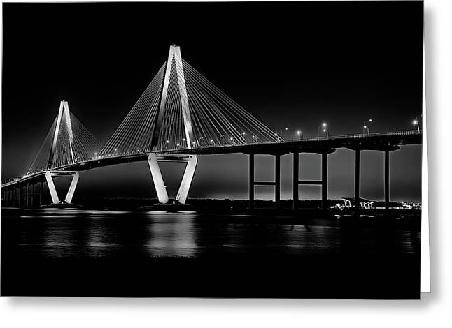 Greeting Card featuring the photograph Ravenel Bridge by Bill Barber