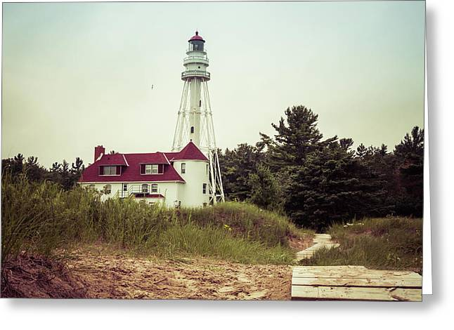 Greeting Card featuring the photograph Rawley Point Lighthouse by Joel Witmeyer