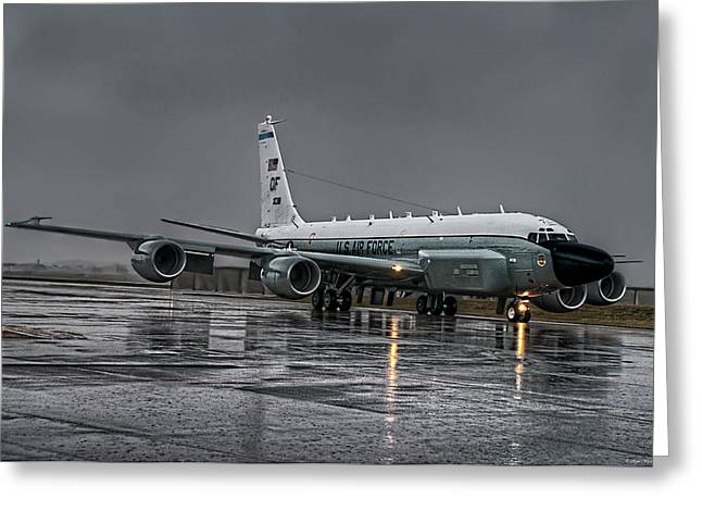 Recon Greeting Cards - RC-135 Rivet Joint Greeting Card by Ryan Wyckoff