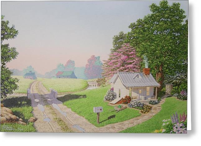 Rebeccas Cottage Greeting Card