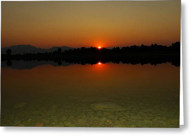 Greeting Card featuring the photograph Red Dawn by Eric Dee
