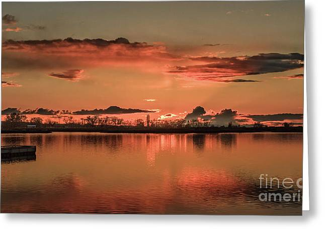 Red Glow Greeting Card by Robert Bales