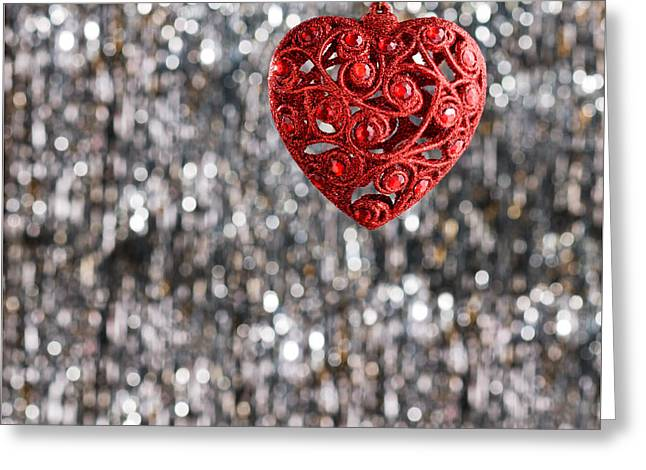 Greeting Card featuring the photograph Red Heart by Ulrich Schade