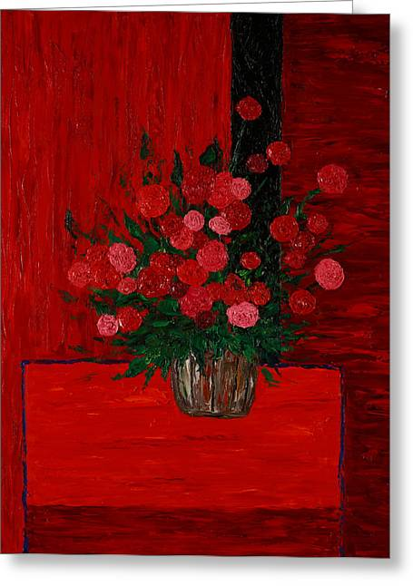 Red On Red On Red Greeting Card by Timothy Clayton