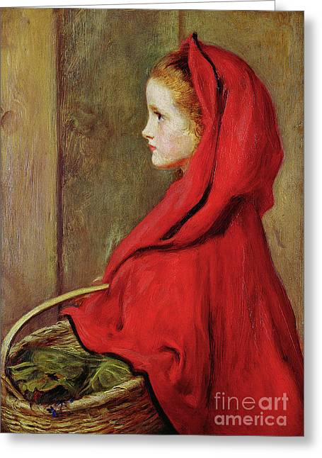 Red Riding Hood Greeting Card by John Everett Millais