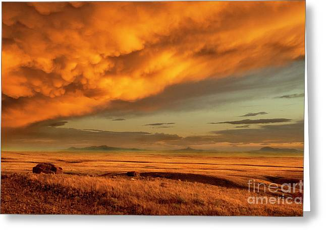 Red Rock Coulee Sunset 1 Greeting Card