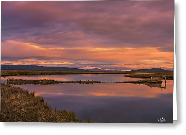 Red Rock Lakes Greeting Card by Leland D Howard
