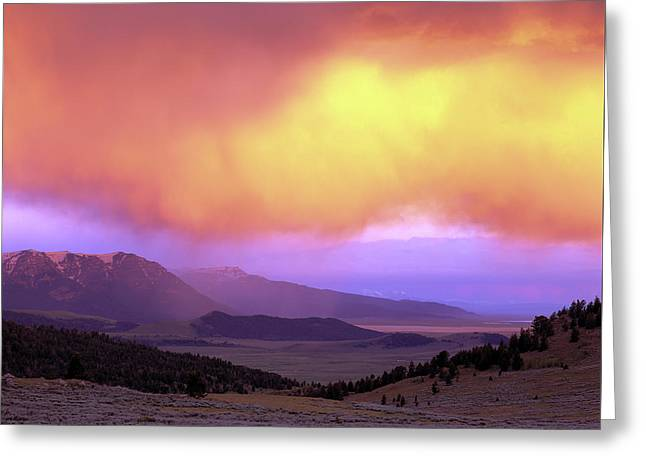 Red Rock Pass Greeting Card by Leland D Howard