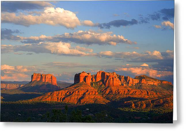 Red Rocks Sunset Greeting Card by Alexey Stiop