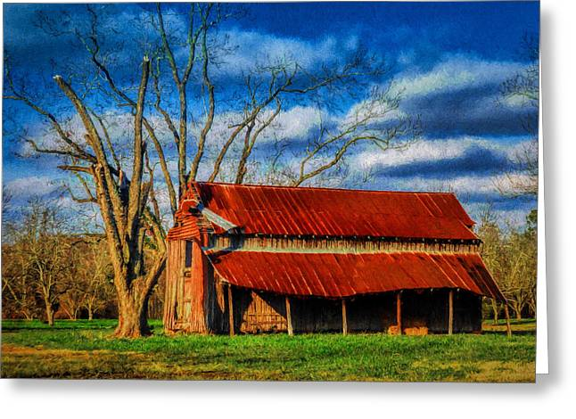 Red Roof Barn Greeting Card