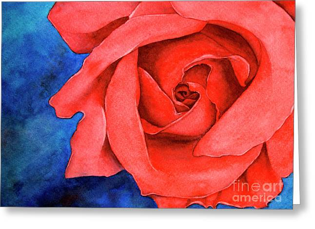 Red Rose Greeting Card by Rebecca Davis