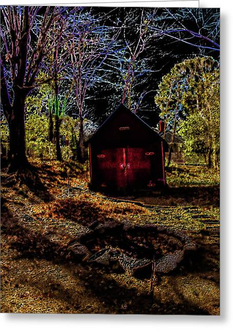 Red Shed Greeting Card by Randy Sylvia