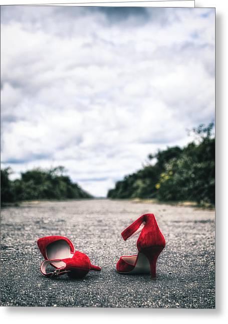 Red Stilettos Greeting Card by Joana Kruse