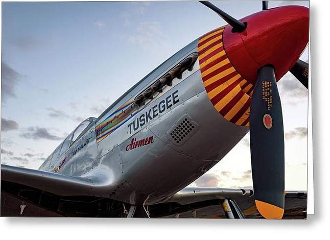 Red Tail At Dusk - 2017 Christopher Buff, Www.aviationbuff.com Greeting Card