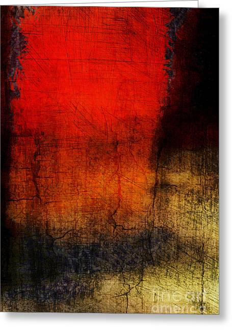 Red Tide Vertical Greeting Card by Edward Fielding