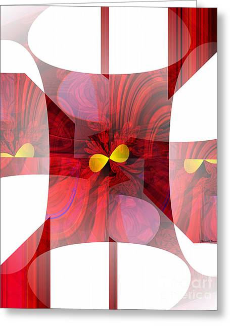 Red Transparency  Greeting Card