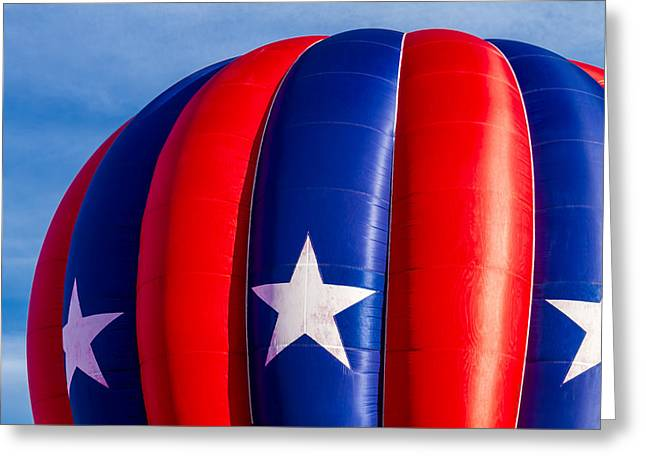 Red White And Blue Balloon Greeting Card by Teri Virbickis