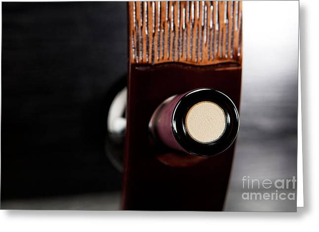 Red Wine Bottle In Luxury Holder Greeting Card by Wolfgang Steiner
