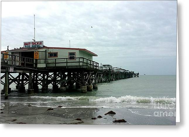 Redington Beach, Florida Fishing Pier Greeting Card by Scott D Van Osdol