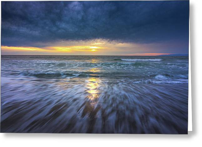 Redondo Beach Sunset Greeting Card