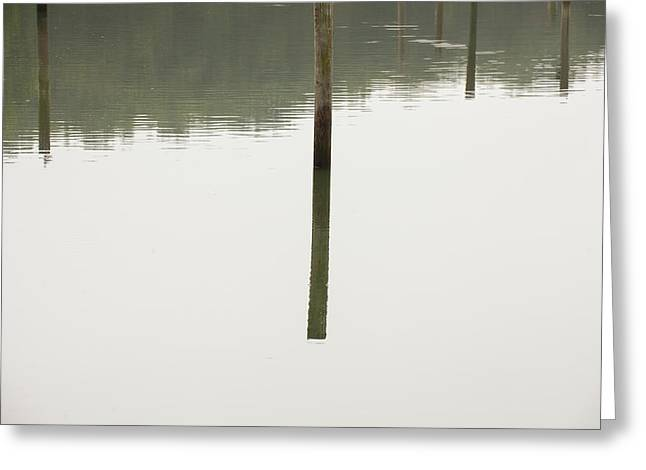 Reflecting Poles Greeting Card by Karol Livote