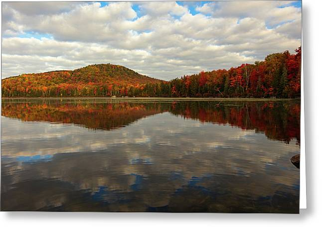 Autumn Reflections Greeting Card by Mike Lang