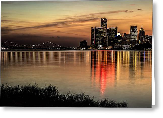 Reflections Of Detroit Greeting Card