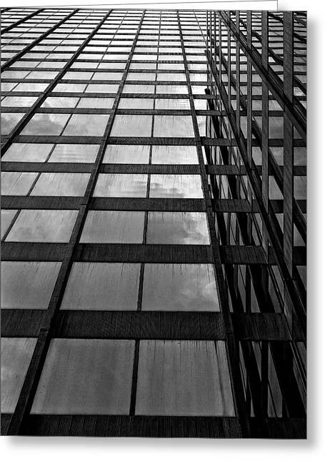 Reflective Glass And Metal Building Greeting Card by Robert Ullmann