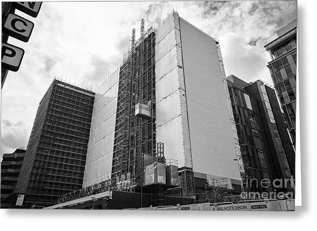 Refurbishment Of Lloyd House West Midlands Police Headquarters Office Development In New Financial A Greeting Card by Joe Fox