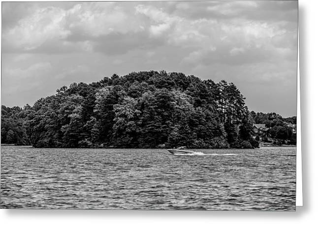Relaxing On Lake Keowee In South Carolina Greeting Card by Alex Grichenko