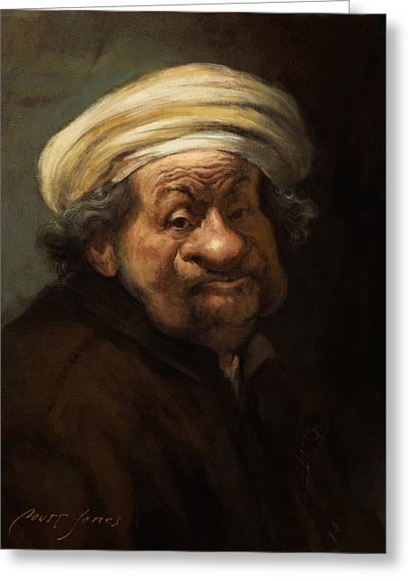 Rembrandt Greeting Card by Court Jones