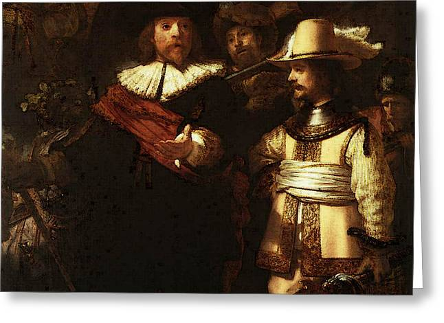 Rembrandt The Nightwatch  Greeting Card
