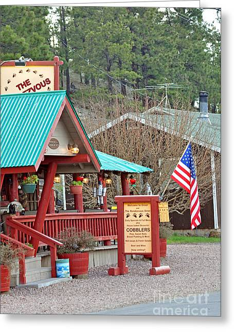 Greeting Card featuring the photograph Rendezvous Diner by Juls Adams