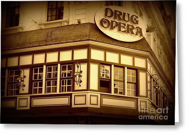 Restaurant Sign In Brussels Greeting Card by Carol Groenen