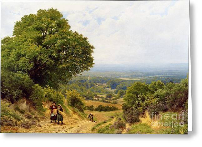 Returning From The Harvest Greeting Card by MotionAge Designs