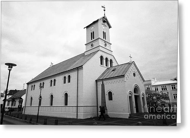Reykjavik Cathedral Church Iceland Greeting Card by Joe Fox