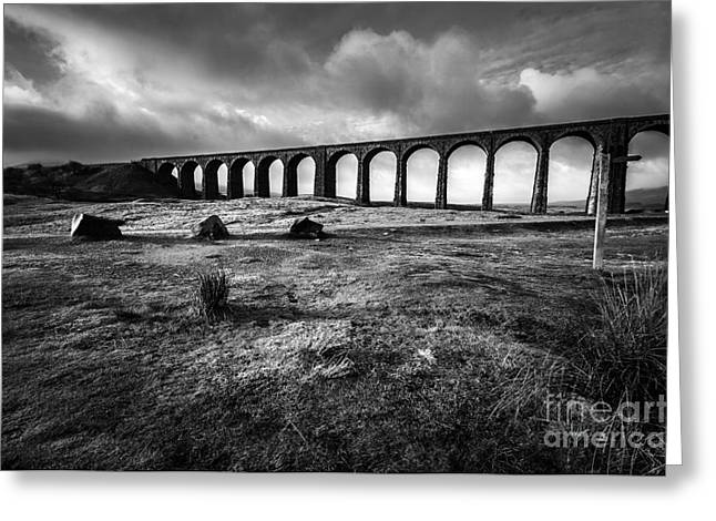 Ribblehead Viaduct Greeting Card by Nichola Denny