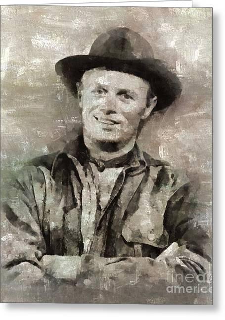 Richard Widmark Hollywood Actor Greeting Card