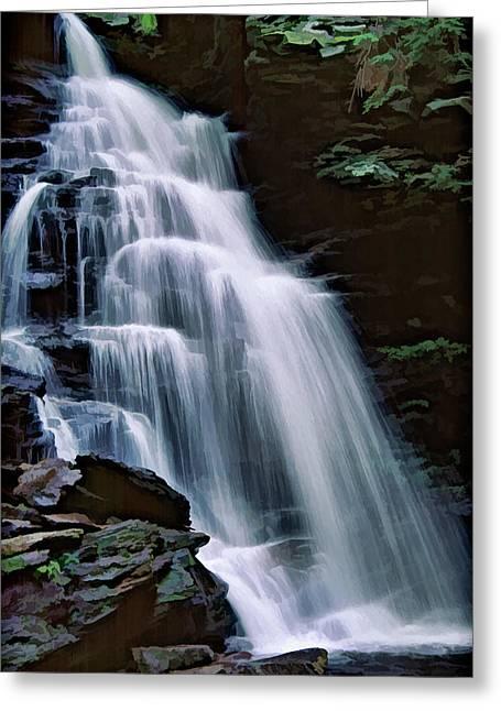 Ricketts Glen Falls 027 Greeting Card by Scott McAllister