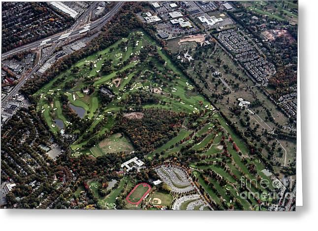 Ridgewood Country Club Aerial Photo Greeting Card