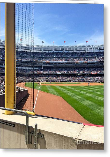Yankee Stadium_right Field3 Greeting Card by All Island Promos