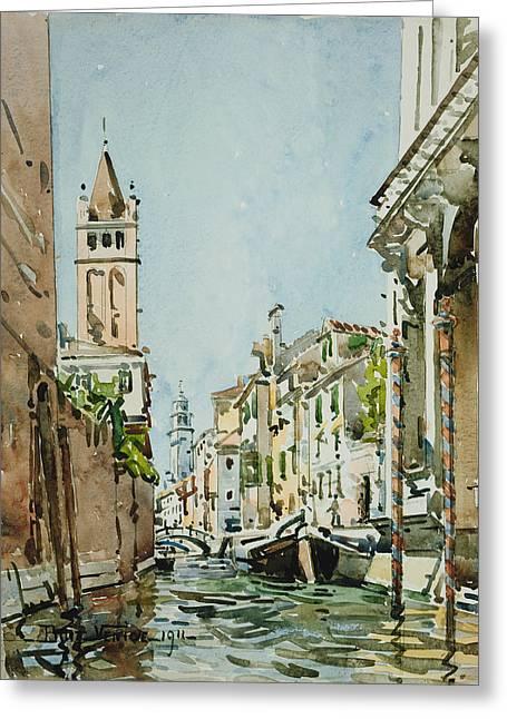 Rio Di San Barnaba, Venice Greeting Card by Edward Darley Boit