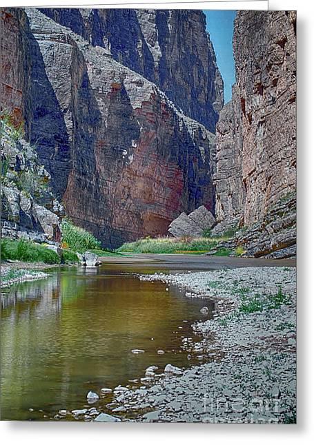 Rio Grande At Santa Elena Canyon Greeting Card