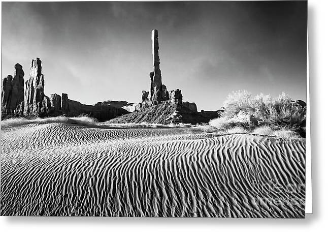 Greeting Card featuring the photograph Rippled Dunes by Scott Kemper
